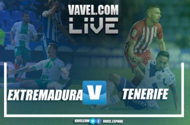 Extremadura vs Tenerife en vivo y en directo online en LaLiga 1|2|3 2018-19 // Fotomontajes VAVEL