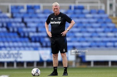David Moyes in pre-match training.