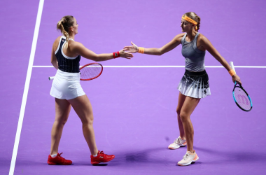 Babos and Mladenovic will look to defend their title in Shenzhen | Photo: Clive Brunskill