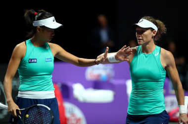 Stosur and Zhang will look to qualify with a win over Krejcikova and Siniakova | Photo: Clive Brunskill
