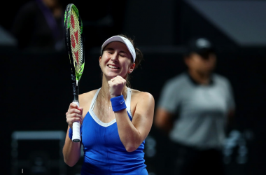 WTA Finals: Brilliant Bencic stuns erratic Kvitova in three sets