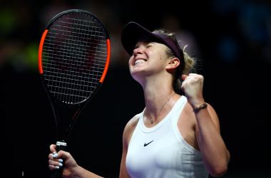 Elina Svitolina celebrates her win | Photo: Clive Brunskill