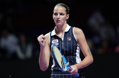 Karolina Pliskova will face Halep in her final round-robin match | Photo: Lintao Zhang