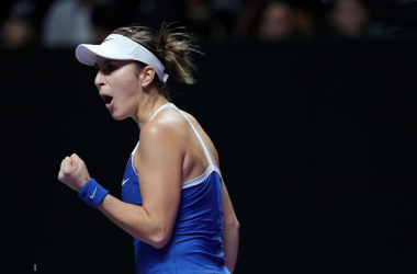 WTA Finals: Belinda Bencic moves into the semifinal after Bertens retirement