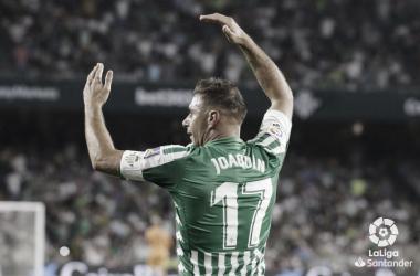 Joaquín durante el Betis - Leganés | Fotografía: La Liga