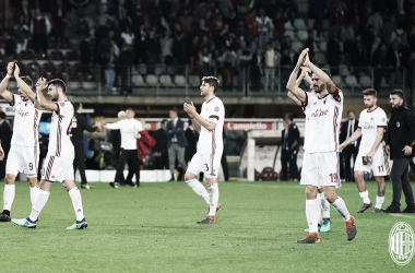 Imagen del Milan en el último partido. Foto: acmilan.com