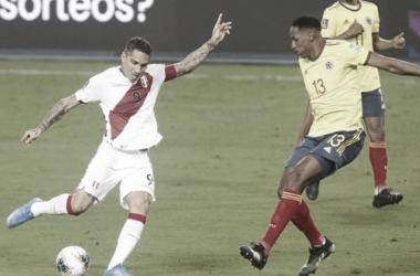 Encuentro Colombia- Perú Copa América. Fuente: Depor.com