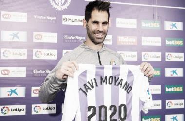 Javi Moyano con la camiseta del Real Valladolid / Real Valladolid