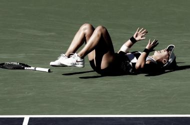 Andreescu festeja su épica victoria en la final de Indian Wells | Foto: WTA