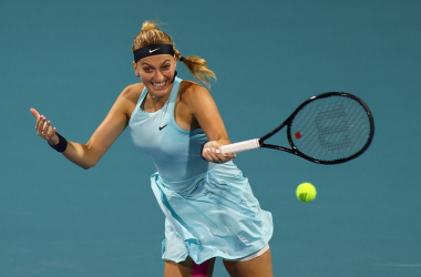 Petra Kvitova scored a clean victory over former champion Johanna Konta to move into the fourth round of Miami for the fourth time in her career. Photo: Mark Brown