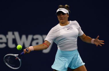 Canada's Bianca Andreescu's Miami Open campaign lives for another round after taking out fellow youngester in Amanda Anisimova in the third round of the Miami Open. Photo: Mark Brown