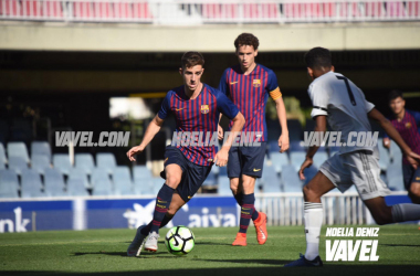 Alejandro Marqués en el Barcelona - Real Madrid Juvenil | Foto: Noelia Déniz (VAVEL)