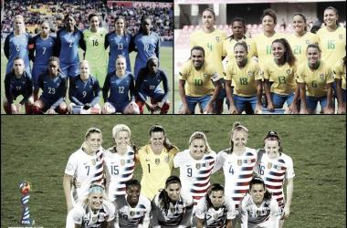 Onces de las tres selecciones más potentes de este Mundial / Foto: FIFA
