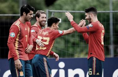España lidera el grupo F con tres victorias al hilo | Fotografía: UEFA
