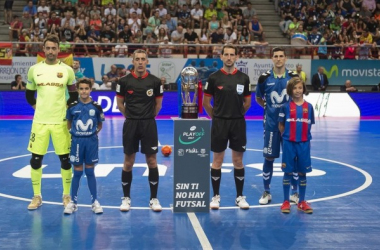 La última vez que se enfrentaron ambos conjuntos, los interistas salieron vencedores del título de Primera División tras una final muy igualada | Foto: @FCBFutbolSala