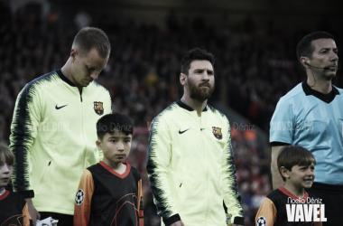 Ter Stegen y Leo Messi, jugadores del FC Barcelona. FOTO: Noelia Déniz