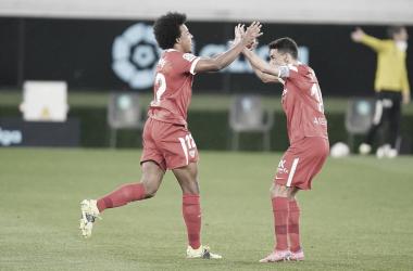 Koundé y Navas en el encuentro | Foto: Sevilla FC