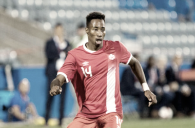 Mark-Anthony Kaye with the Canadian National Team. | Photo: Marc-Andre Donato/ Canada Soccer