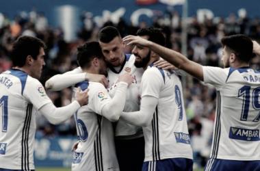 El Real Zaragoza, de menos a más