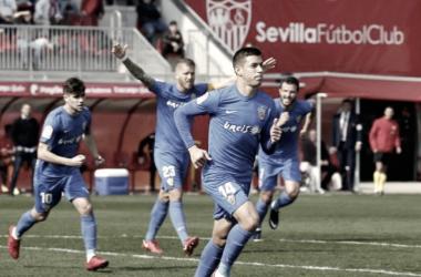 El Almeria celebra un gol (foto de laliga.com)