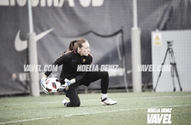 Pamela Tajonar en el entrenamiento | Foto de Noelia Déniz, VAVEL