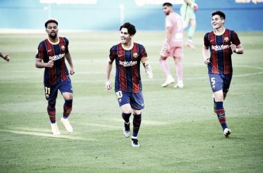 El Barça B en su último partido frente al Acoyano. Foto: Noelia Déniz VAVEL<div><br></div>