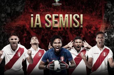 Perú, por tercera vez semifinalista de la Copa América   Fotografía: FPF