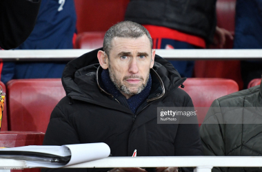 <div>Arsenal FC v Olympiacos FC - UEFA Europa League Round of 32: Second Leg</div><div><br></div><div>Martin Keown during Europa League Round of 32 2nd Leg between Arsenal and Olympiakos at Emirates stadium , London, England on 27 February 2020. (Photo by MI News/NurPhoto via Getty Images)</div>