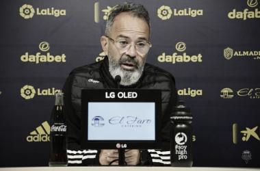 Cervera durante la rueda de prensa | Cádiz CF