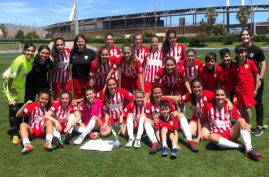 El equipo femenino, campeón de la Liga Provincial | Fuente: UD Almería