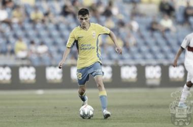 'Pedri' en su debut frente al SD Huesca. Foto: UD Las Palmas