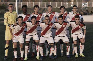 Jugadores del Juvenil A del Rayo Vallecano antes del partido | Fotografía: Rayo Vallecano S.A.D.