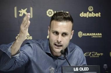 Juan Cala durante la rueda de prensa | Cádiz CF