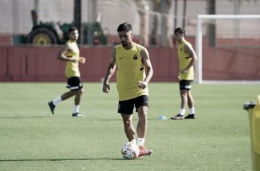 Jaume Costa durante un entrenamiento / Fuente: Página oficial del RCD Mallorca