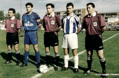Saludo de capitanes de un histórico derbi | Foto: CD Leganés