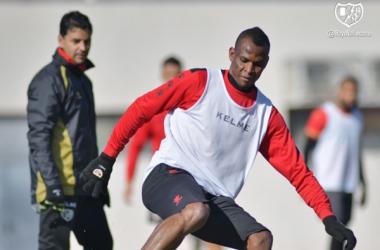 Agbo durante un entrenamiento | Fotografía: Rayo Vallecano S.A.D.