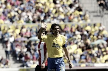 Valerón despidiéndose en su último partido con Las Palmas | Foto: www.udlaspalmas.es