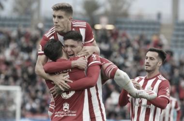 Celebración del gol de Darwin Núñez | Fuente: UD Almería