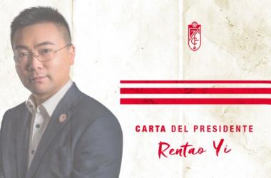 Rentao Yi, presidente del Granada/ Imagen: Granada CF
