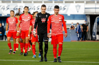 Los jugadores del Recreativo Granada lucharán por otra victoria para lograr la permanencia | Foto: Granada CF