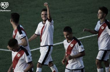 Pipe Sáez celebrando un gol | Fotografía: Rayo Vallecano S.A.D.