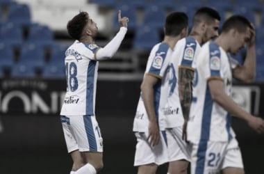Rober Ibáñez celebrando su gol frente al Albacete | Foto: CD Leganés