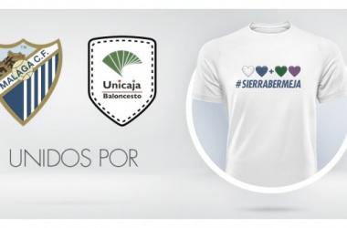 Málaga CF y Unicaja unidos por Sierra Bermeja. Fuente: Málaga CF