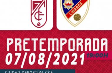 Cartel del partido amistoso Granada CF - Linares | Foto: Granada CF