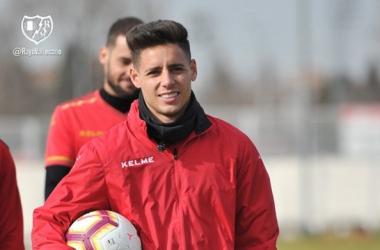 Álex Moreno durante un entrenamiento | Fotografía: Rayo Vallecano S.A.D.