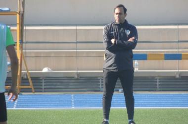 Fran Fernández durante un entrenamiento/ Fuente: UD Almería