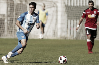 El Atlético Malagueño durante un partido esta temporada | Foto: Málaga CF.