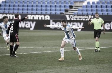 Javi Hernández celebrando su gol frente al Tenerife | Foto: CD Leganés