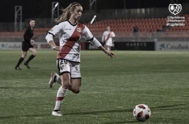 Marta en el partido ante el Atlético Femenino   Foto: Rayo Vallecano S.A.D.