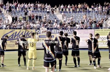 Jugadores del Rayo Vallecano saludando a la afición | Fotografía: Rayo Vallecano S.A.D.